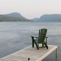 Adirondack Chair, Dock, Lake Willoughby, Vermont