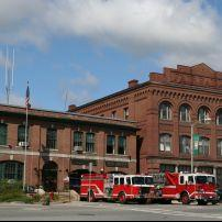 Fire Engines, Fire Station, St. Johnsburg, Vermont