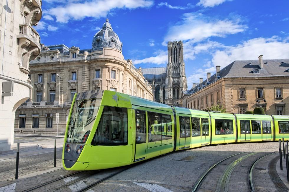 Tram, Reims, Champagne Country, France