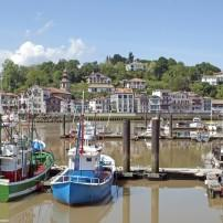 Harbor, Boats, Waterfront, St. Jean de Luz, The Basque Country Gascony and Hautes Pyrenenes