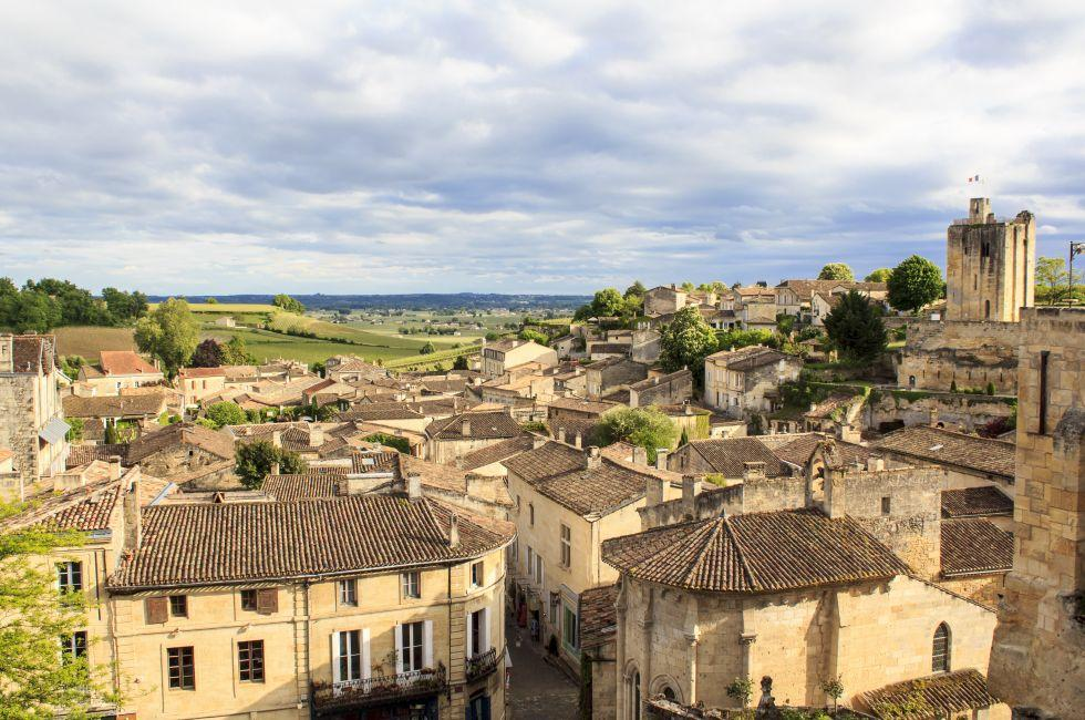 Cityscape, Saint-Emilion, Bordeaux, France