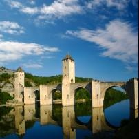 Cahors Valentre Bridge, The Dordogne, France