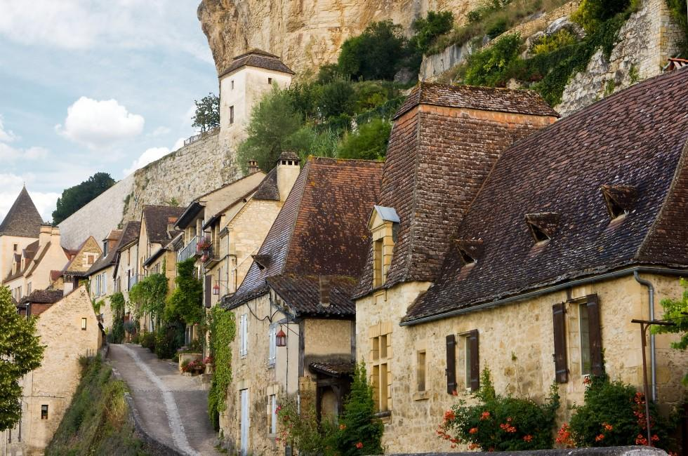 Houses, Beynac, The Dordogne, France