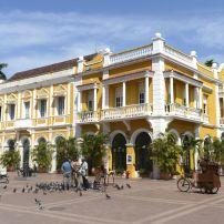 Neighborhood, Oldtown, Public Square, Cartagena, The  Caribbean Coast, Colombia
