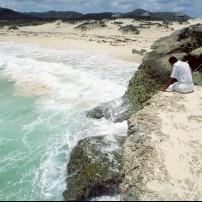 Beach, Cliff, Coastline, Bonaire, Caribbean