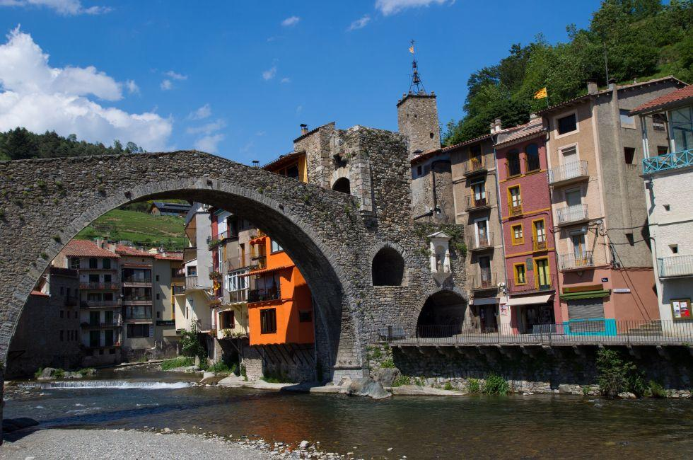 Bridge, Camprodon, Small Gerona, Spain