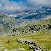 Hikers, Spanish Pyrenees, Ordesa and Monte Perdidno National Park, Spain