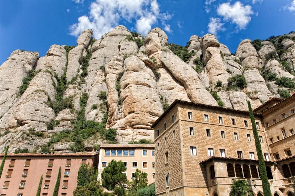 Cliffs, Montserrat, Catalonia Valencia and the Costa Blanca, Spain