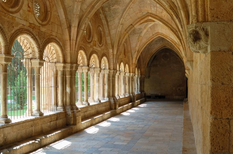 Interior, Poblet Monastery, Catalonia Valencia and the Costa Blanca, Spain