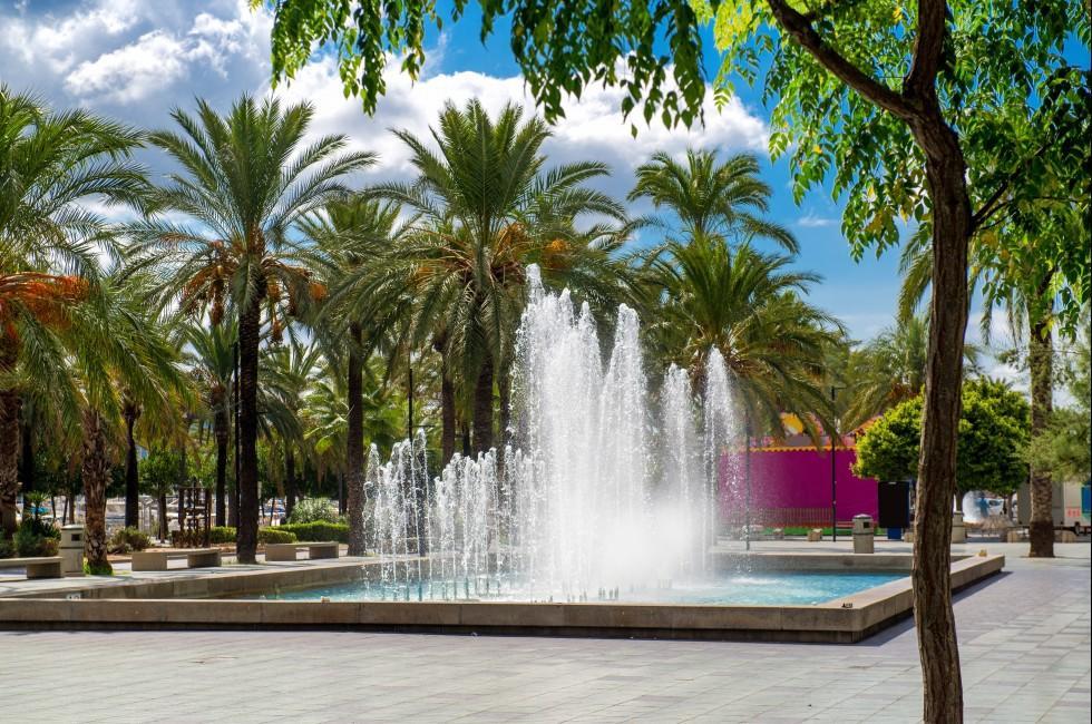 Fountain Square, San Antonio, Ibiza, Spain