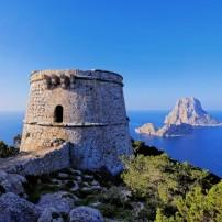 Overlook, Cliff, Ruin, Tower, Torre des Savinar, Ibiza, Spain