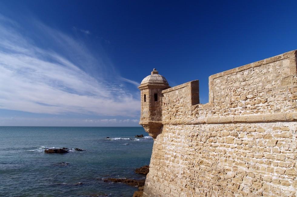 Castle of San Sebastian, Cadiz, Andalusia, Spain