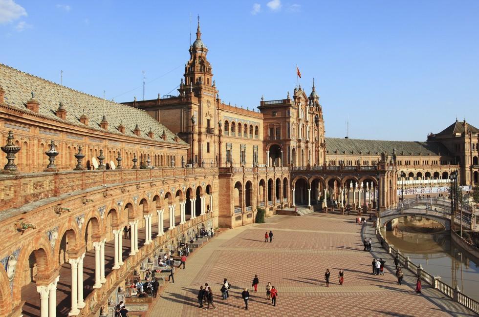Plaza de Espana, Parque de Maria Luisa, Seville and Western Andalusia, Spain