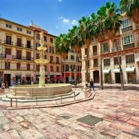 Town Square, Malaga, Costa del Sol and Costa de Almeria, Spain