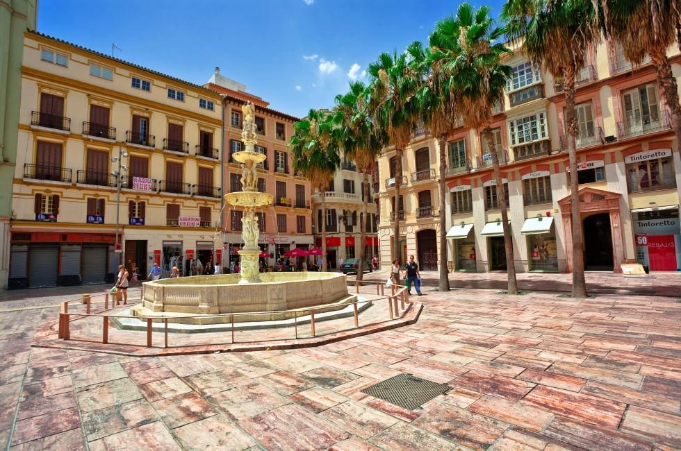 Town Square, Malaga, Costa del Sol and Costa de Almeria, Spain