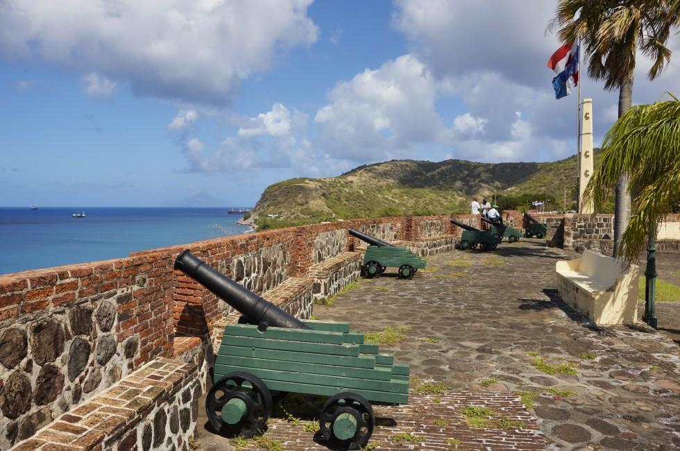 Cannon, Fortress Oranjestad, St. Eustatius, Caribbean