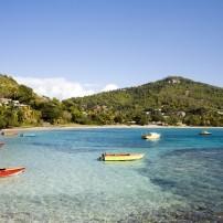 Boats, Coastline, Bequia, St. Vincent, Caribbean