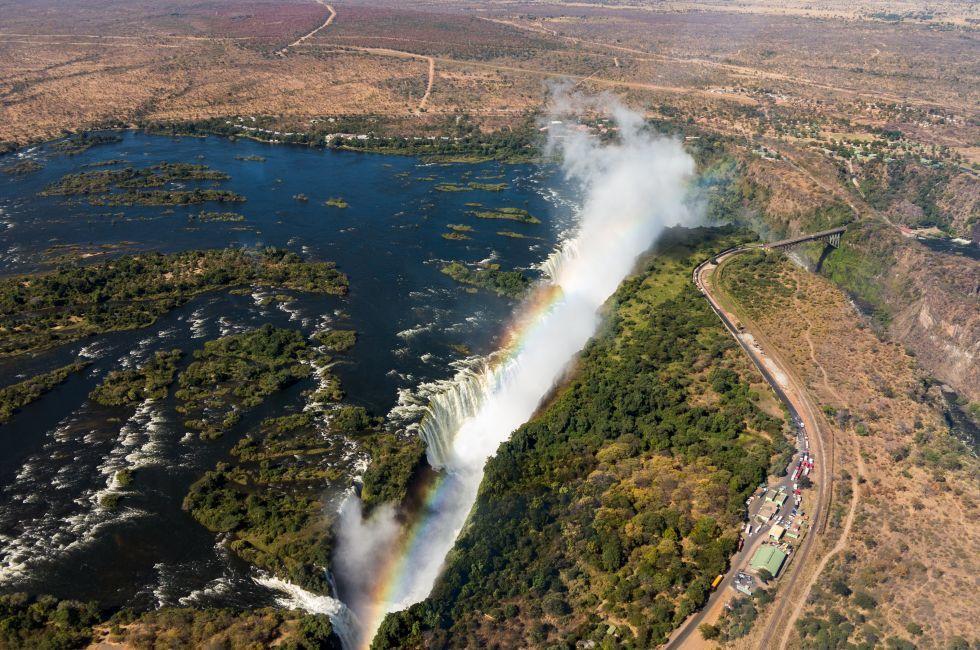 Victoria Fallys, Zambezi River, Zambia, Zimbabwe, Africa