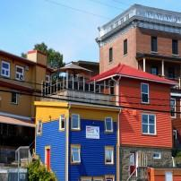 Houses, Downtown, Gaspe, Quebec, Canada