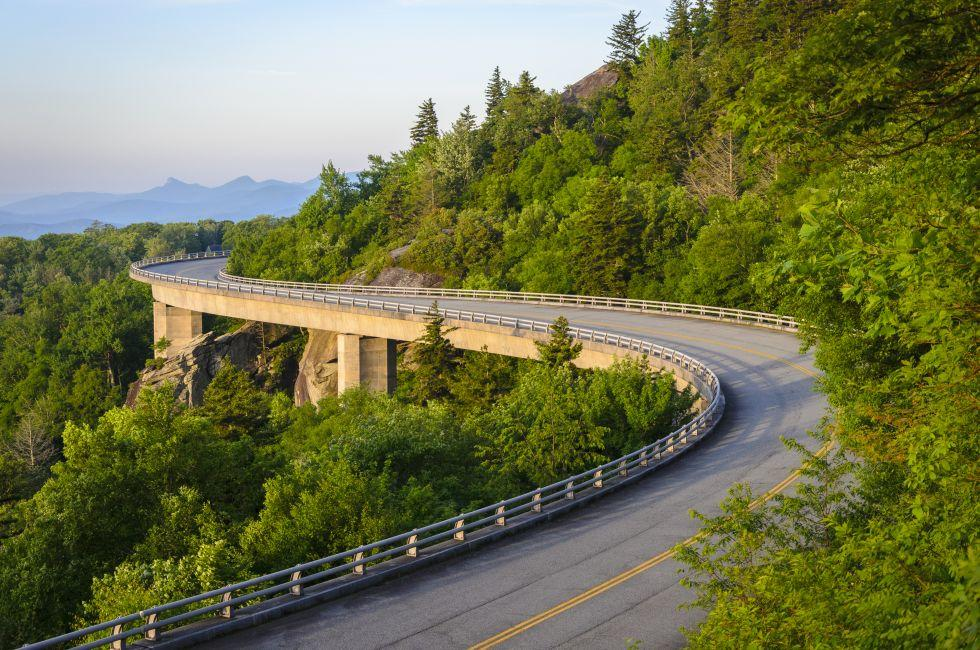 The Linn Cove Viaduct, Blue Ridge Parkway, Virginia