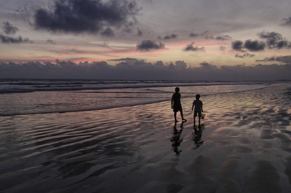 Silhouettes, Beach, Sunset, Chiriqui, Panama