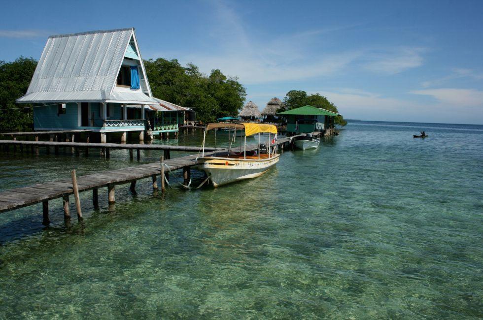 Boat, Bocas del Toro, Bocas del Toro Archipelago, Panama, Mexico and Central America