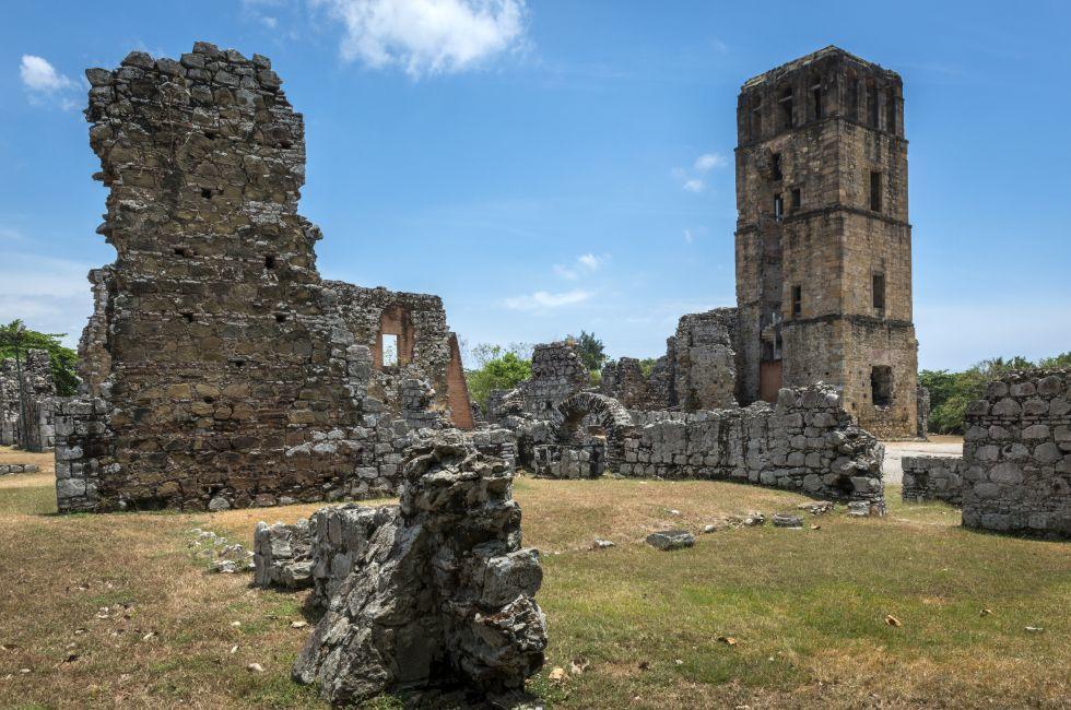 Ruins, Panama Viejo, Panama City, Panama