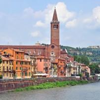 Sant'Anastasia, Adige River, Verona, The Veneto and Friulu-Venezia Giulia, Italy