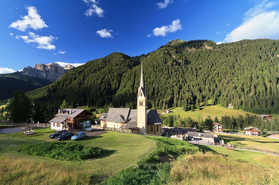 Church, Alba di Canazei, Trentino, Italy