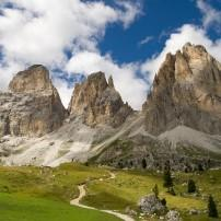 Mountain, Sassolungo, The Dolomites, Italy