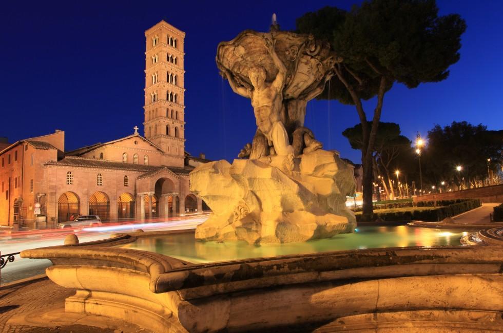 Fountain, Santa Maria in Cosmedin, Rome, Italy