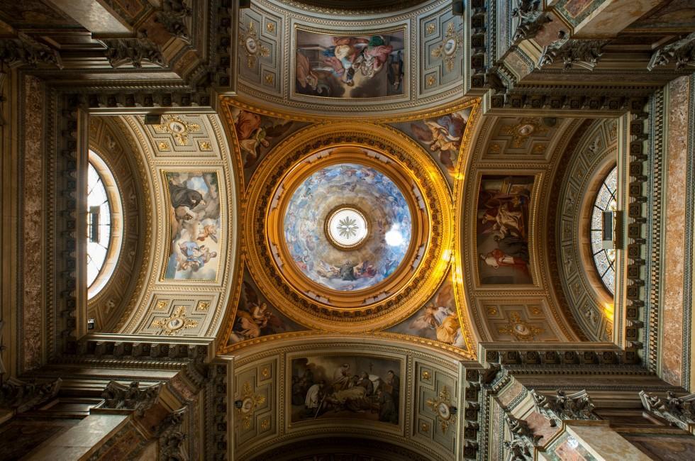 Ceiling, Santi Giovanni e Paolo, Esquilino and Celio, Rome, Italy