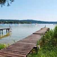 Dock, Lake Ammersee, Munich, Bavaria, Germany