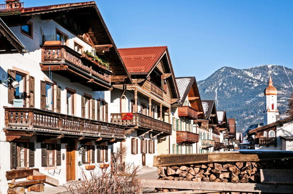 Old Town, Garmisch Partenkirchen, Bavaria, Germany