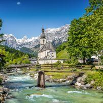 St. Sebastian Church, Ramsau, Berchtesgaden National Park, Bavaria, Germany