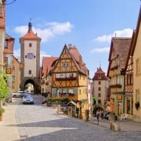 Street, Oldtown, Rothenburg ob der Tauber, The Romantic Road, Germany