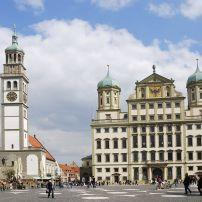 City Centre, Augsburg, The Romantic Road, Germany