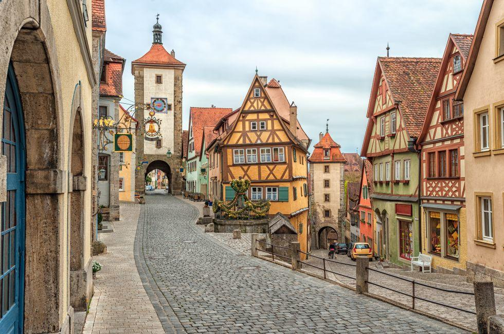 Old Town, Rothenburg, The Romantic Road, Germany
