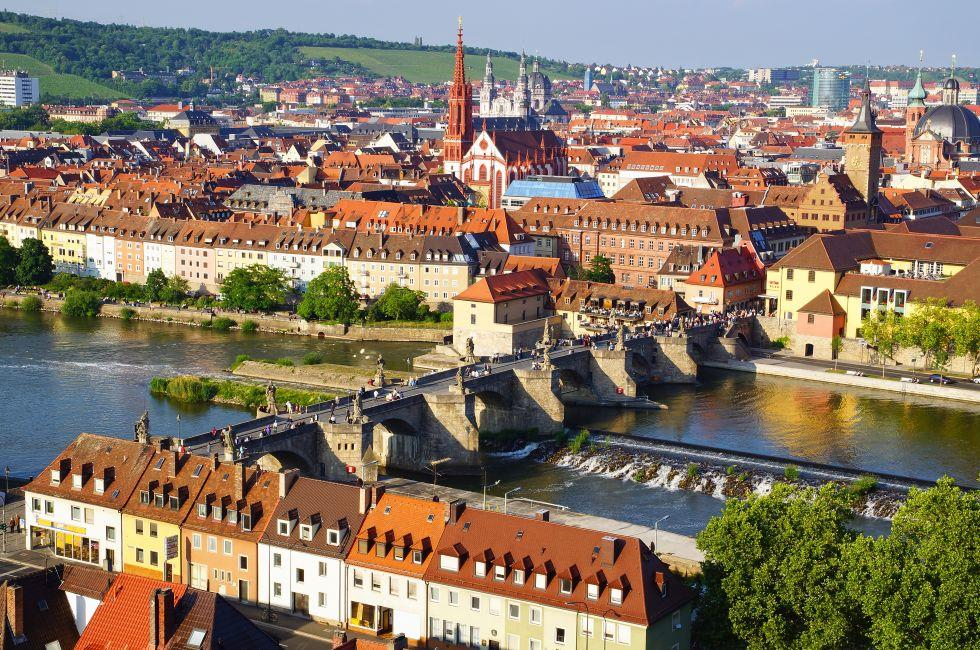Wurzburg Cathedral, Cityscape, Wurzburg, Franconia, Germany