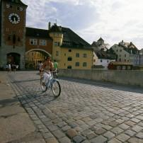 Bikers, Regensburg, Franconia and the German Danube, Germany
