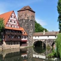 Old Town, Canal, Nuremberg, Germany
