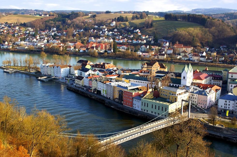Cityscape, Rooftops, Houses, Passau, Germany