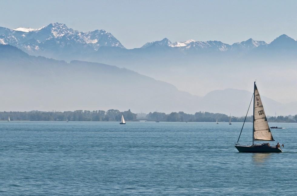 Sailboat, Lake of Constance, The Bodensee, Germany