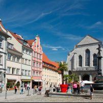 St. Stephen church, Marketplatz, Lindau, The Bodensee, Germany, Europe.