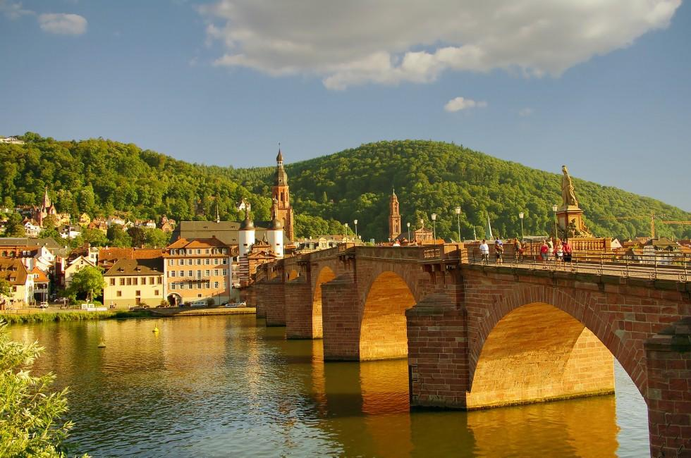 Neckar River, Old Bridge, Heidelberg