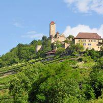 Castle Hornberg, Neckarzimmern, Heidelberg and the Neckar Valley, Germany, Europe.