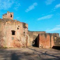 Hardenburg Castle Ruins, The Pfalz and Rhine Terrace, Germany, Europe.