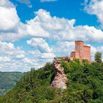 Burg Trifels, The Pfalz and Rhine Terrace, Germany, Europe.