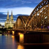 Hohenzollern Bridge, Rhine River, Cologne Cathedral, Cologne Cathedral,
