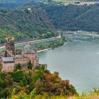 Burg Katz, St. Goarshausen, The Rhineland, Germany, Europe.